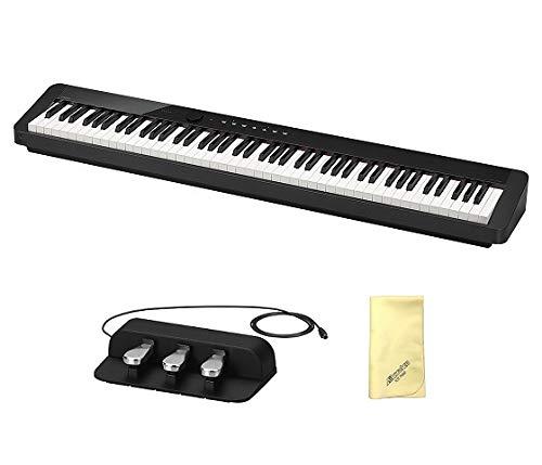 【愛曲クロス付】【3本ペダルユニット/SP-34付】CASIO カシオ PX-S1000BK ブラック Privia プリヴィア 電子ピアノ PX-S1000   B07NPD2HKW