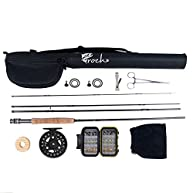 Croch Fly Fishing Rod and Reel Combo 9ft #5 with Carry Bag