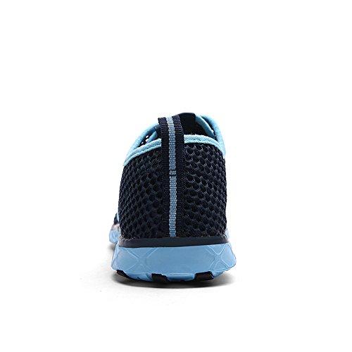 Hommes Enllerviid Maille Glisser Sur Leau Chaussures Décontractée Rapide Bateau De Plage Chaussures De Plage 8859 Bleu Foncé