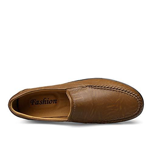Corte Suave Caqui gommino Zapatos tamaño Liviano Pisos Eu Bajo Y 0cm 28 Negocios gommino Cuero Color Confortables Mocasín 5cm 23 Único Tamaño De Genuinos Diseño Mocasín 40 vXYBqwdv