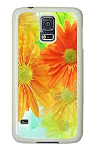 Samsung Galaxy S5 Nature Flowers PC Custom Samsung Galaxy S5 Case Cover White