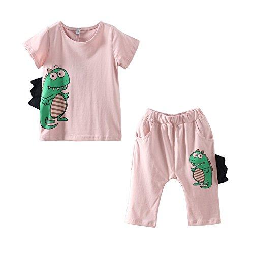 Mud Kingdom Boy's Crocodile Dinosaur T-shirt and Short Costume Outfit 7T Purple (Toddler Crocodile Costume)