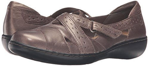CLARKS Women's Ashland Spin Q Slip-on Loafer, Pewter, 8.5 B(M) US by CLARKS (Image #6)