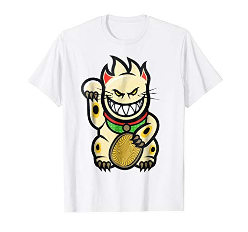 Santa Cruz Spitfire Wheels Cat Skateboard T-Shirt