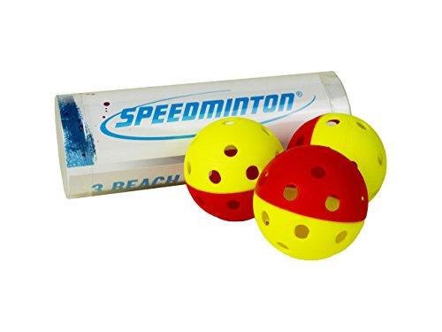 Speedminton Beach Paddle Balls, Yellow/Red