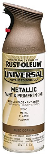 Rustoleum 249132 Universal Metallic 11 oz Spray Paint, Aged Copper by Rust-Oleum by Rust-Oleum