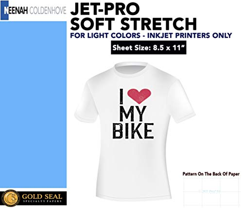 JET-PRO SS JETPRO SOFSTRETCH HEAT TRANSFER PAPER 8.5 X 11 CUSTOM PACK 100 SHEETS
