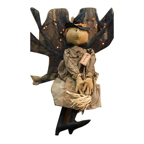 Primitive Halloween Witch Dolls (CWI Gifts Arabella Witch Doll, 29