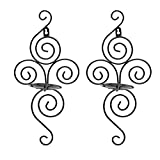 BESTONZON Iron Wall Hanging Candle Holder Sconce Furnishing Articles Vertical Candlestick Holder