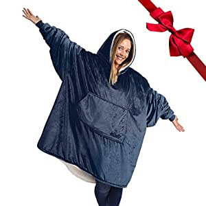 THE COMFY: Original Blanket Sweatshirt Jumper, Seen on Shark Tank, Invented by 2 Brothers, Warm, Soft, Cozy, Wearable Sherpa Hoodie, Multiple Colors, One Size Fits All, Adults,Men,Women,Teens,Friends