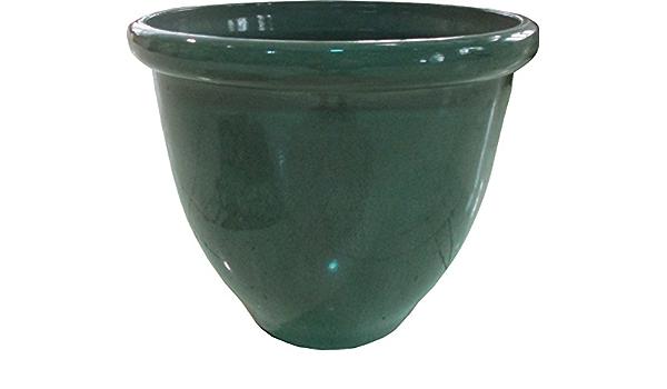 Amazon Com Happy Planter 608410075542 Planter 16 X 16 X 13 Green Tea Glaze Industrial Scientific