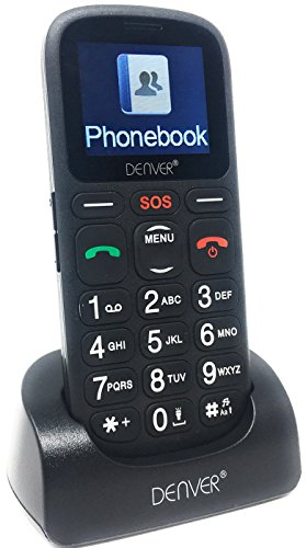 Denver Big Button GSP-120 Senior Mobile Phone with SOS Quick Call Button,...