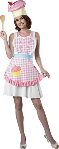 Fun World Women's Pastry Chef Apron Kit, Multi, One Size