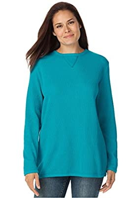 Woman Within Plus Size Thermal Sweatshirt
