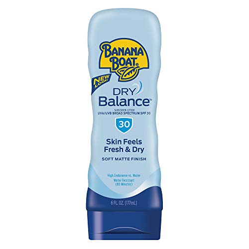 - Banana Boat Sunscreen Dry Balance Broad Spectrum Sunscreen Lotion, SPF 30 - 6 Ounce