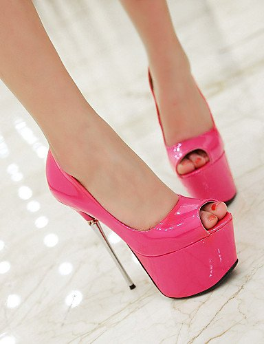 Eu38 Ggx 5 Oro Pink oficina tacones Mujer negro Uk5 tacón us7 Y Noche Plata Cn38 Trabajo Blanco 5 sintético Stiletto tacones Fiesta Rosa Rojo Casual gwrg1xp