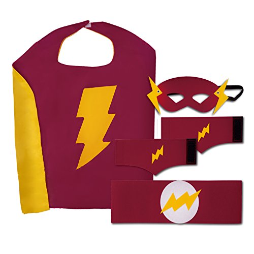 Super Why Costume 4-6 (Kid's, Boy's and Girl's SuperHero Costumes Bundle Set with 5 Pieces. 5 Piece Set)