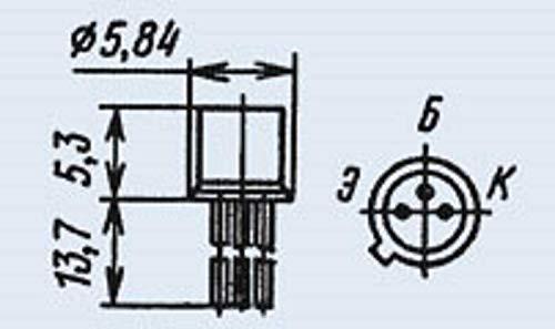2T363A (KT363A) analoge 2N3546, 2N4209, 2N4260 Transistor Silicon USSR 1 pcs