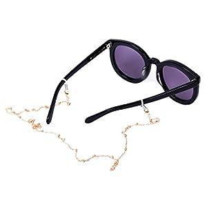 Ivysan Rose Gold Beaded Eyeglasses Sunglasses Holder Cords Chains for Women,002