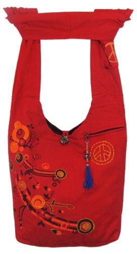 Shangri-La Nook Cotton crossbody Flower Gypsy Bag Handmade in Nepal