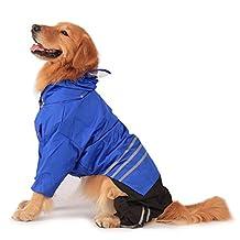 Befamous Pet Large Dog Raincoat Rain Coat Dog Rain Poncho raingear Waterproof Outdoor XXL