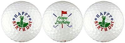 Happy Birthday w/ Golfer & Clubs Golf Ball Gift Set