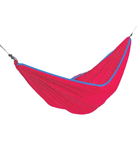 Simple Spring, Summer, Autumn Used Portable Polyester Multi functional Red Hammock For Backpacking, Camping, Travel, Bench, Yard and Garden. Easy to storage and carry by Amax