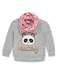 Girls Luv Pink Girls' Amazing Day Knit L/S Top with Infinity Scarf