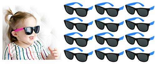 Edge I-Wear 12 Pack Fun Party Sunglass Neon Sunglasses for Kid Party Favors 80