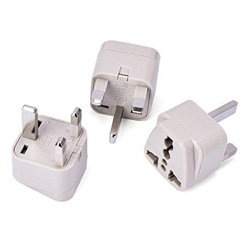 Malawi Housing (Wonpro Grounded Travel Plug Adapter Type G for UK, Ireland, Singapore, UAE - CE Certified - 3 Pack)