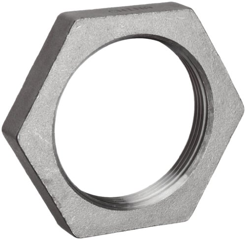 Merit Brass K619-06 Stainless Steel 316 Cast Pipe Fitting, Hex Locknut, Class 150, 3/8