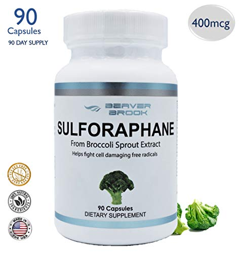 Beaver Brook Sulforaphane from Broccoli Sprout 400 mcg All Natural Dietary Supplement 90 Capsules