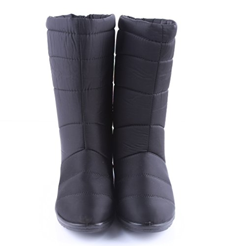 Meolin with Snow Boots Short Women Tassel Winter 6 black Boots Black 77FqOwP