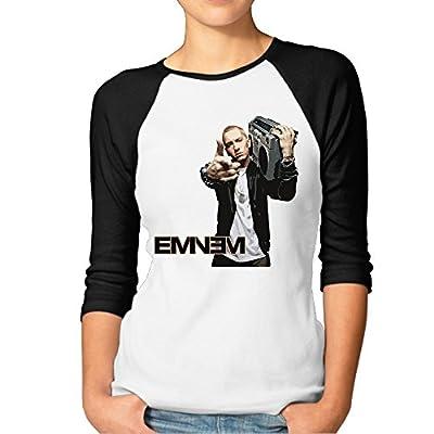 JXMD Women's Eminem T Shirt Black