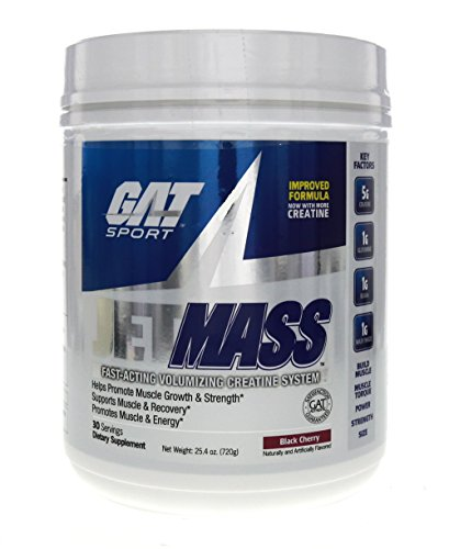 GAT JetMASS Fastest-Acting Muscle Volumizing Creatine System Black Cherry 30 Servings