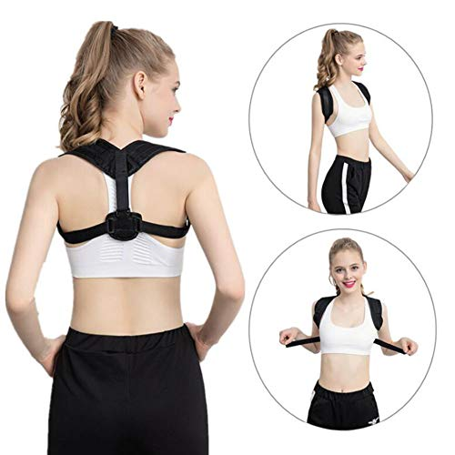 (Posture Corrector Spinal Support, Posture Corrector Spinal Support - Support Belt Adjustable Size, Physical Therapy Posture Brace for Women and Men, Shoulder and Neck Pain Relief,Black,S)