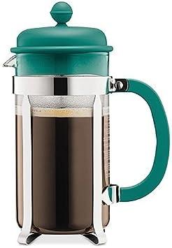 Bodum 1918-159B Caffettiera Coffee Maker, 8 Cup/1.0 L/34 oz, Turquoise