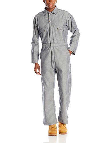 Key Apparel Men's Long Sleeve Fisher Stripe Unlined Coverall, Fisher Stripe, -