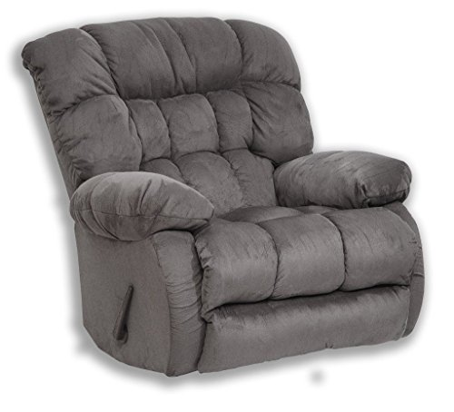 Teddy Bear Chaise Swivel Glider Recliner Fabric: Graphite