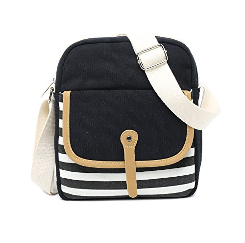 School Backpack for Girls, Gazigo Womens High School College Bookbags Laptop Bag (Black) by Gazigo (Image #7)