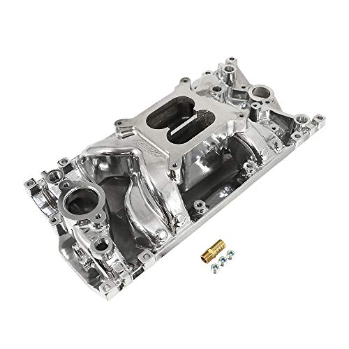 Assault Racing Products PC2027 Small Block Chevy Dual Plane Vortec Polished Aluminum Intake 1500-6500 RPM SBC