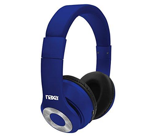 NAXA Electronics Bluetooth BACKSPIN Bluetooth Wireless Headphones Blue (NE-965 BLUE) (Wifi Bluetooth Mp3)