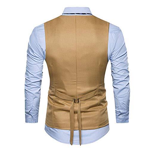 Slim Vest Business Suit Et Printemps Simple Black Xdljl Sans Boutonnage Manches Automne Gilet Hommes Pour xTzPw8