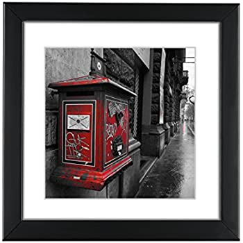 Amazon.com - BOJIN Black 8x8 Inch Picture Frames Holds 6x6 Inch With ...
