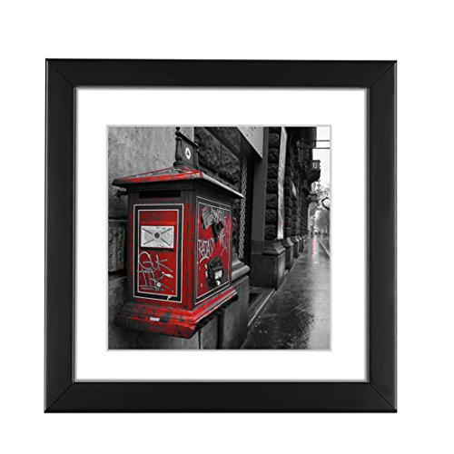BOJIN Black 8x8 Inch Picture Frames Holds 6x6 Inch With Mat,