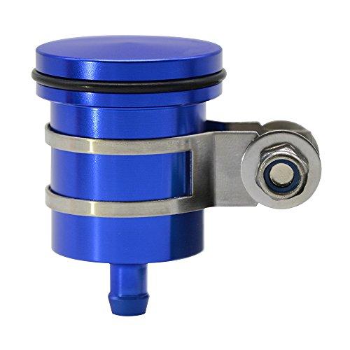 CNC Aluminum Oil Cup Front or Rear Brake Fluid Reservoir For BMW S1000RR S1000R S1000XR HP4 Race R1200GS LC ADV adventure K1200GS F800GS F650GS F700GS F800GT K1600GT K1600GTL R1200RT (Blue)