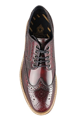 Base London Woburn (p106532 bordo braun Herren Hi Shine Lace Up Brogue Schuhe