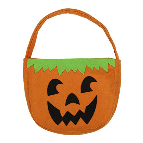 Picnic Basket Halloween Costume (Elevin(TM) Children Halloween Smile Pumpkin Bag Kids Candy Trick or Treat Bag)