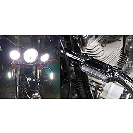 Chrome GUAIMI Motorcycle Highway Bar Lights Transparent Lens Switchback Driving Lights Fits 1-1//4 Highway//Crash Bars for Harley Davidson Victory Bikes