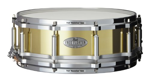 Pearl FTBR1450 14 x 5 Inches Free Floater Snare Drum - Brass ()